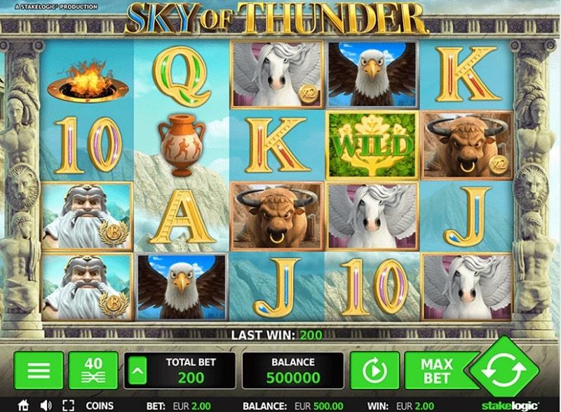 Greentube HTML5: Sky of Thunder