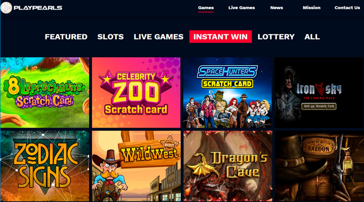 Games with instant payouts